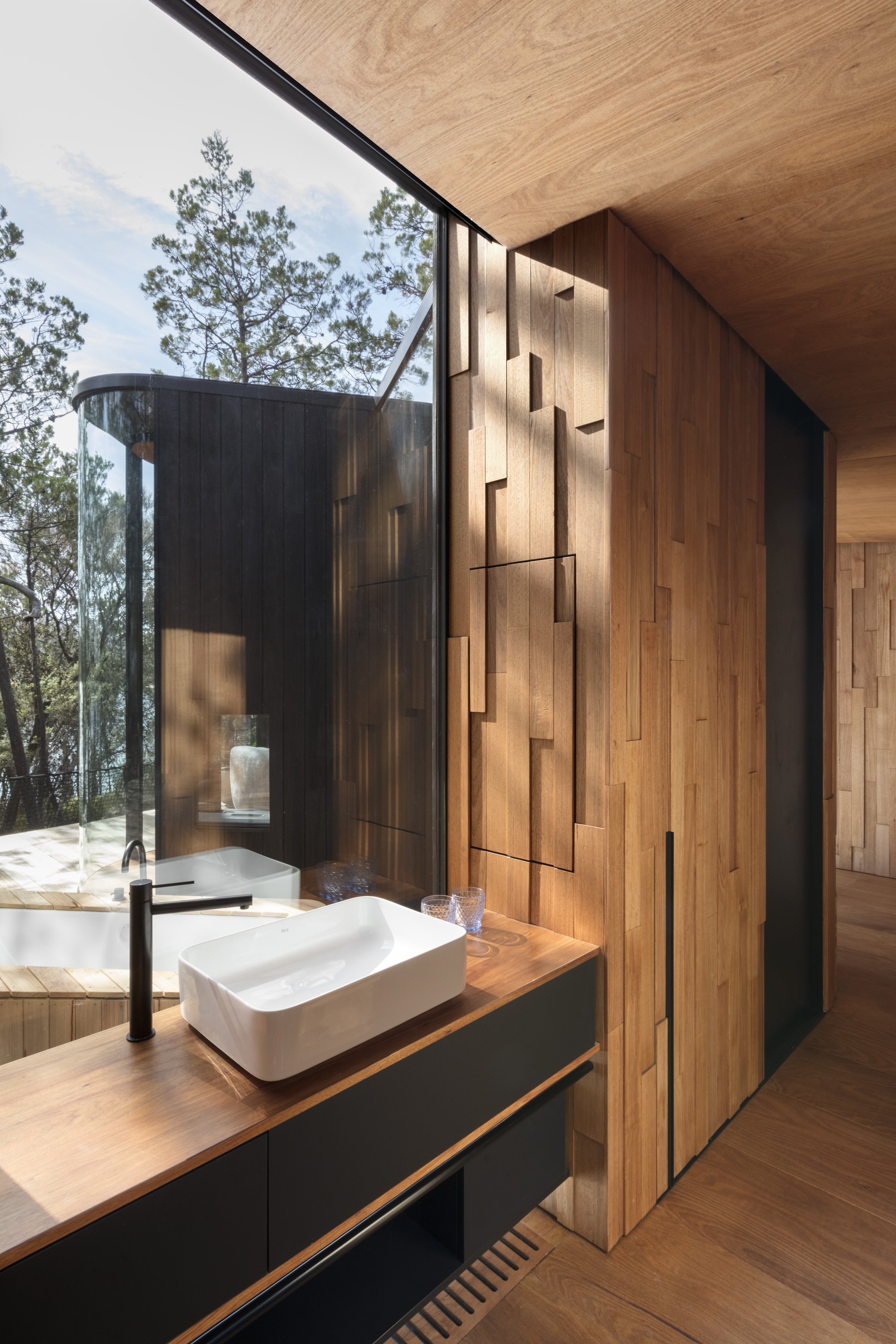 Wall linings and joinery - Freycinet Coastal Pavilions