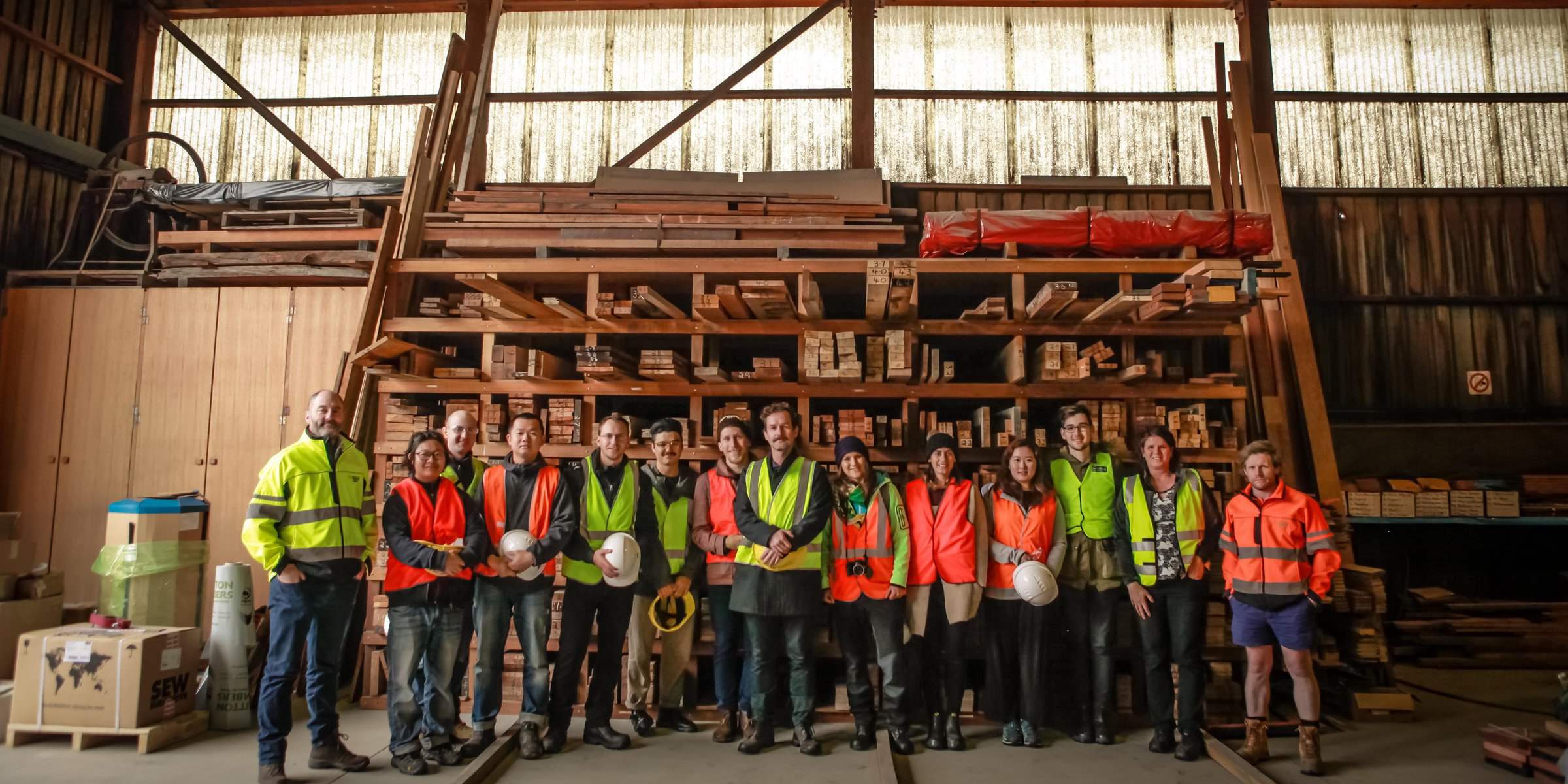 UQ students at Britton Timbers