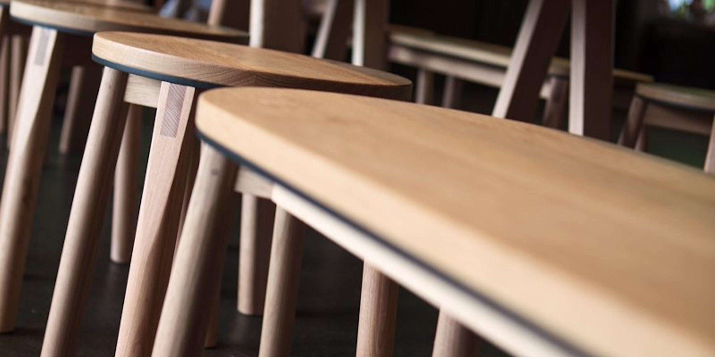Tasmanian Oak furniture at Supernormal Restaurant