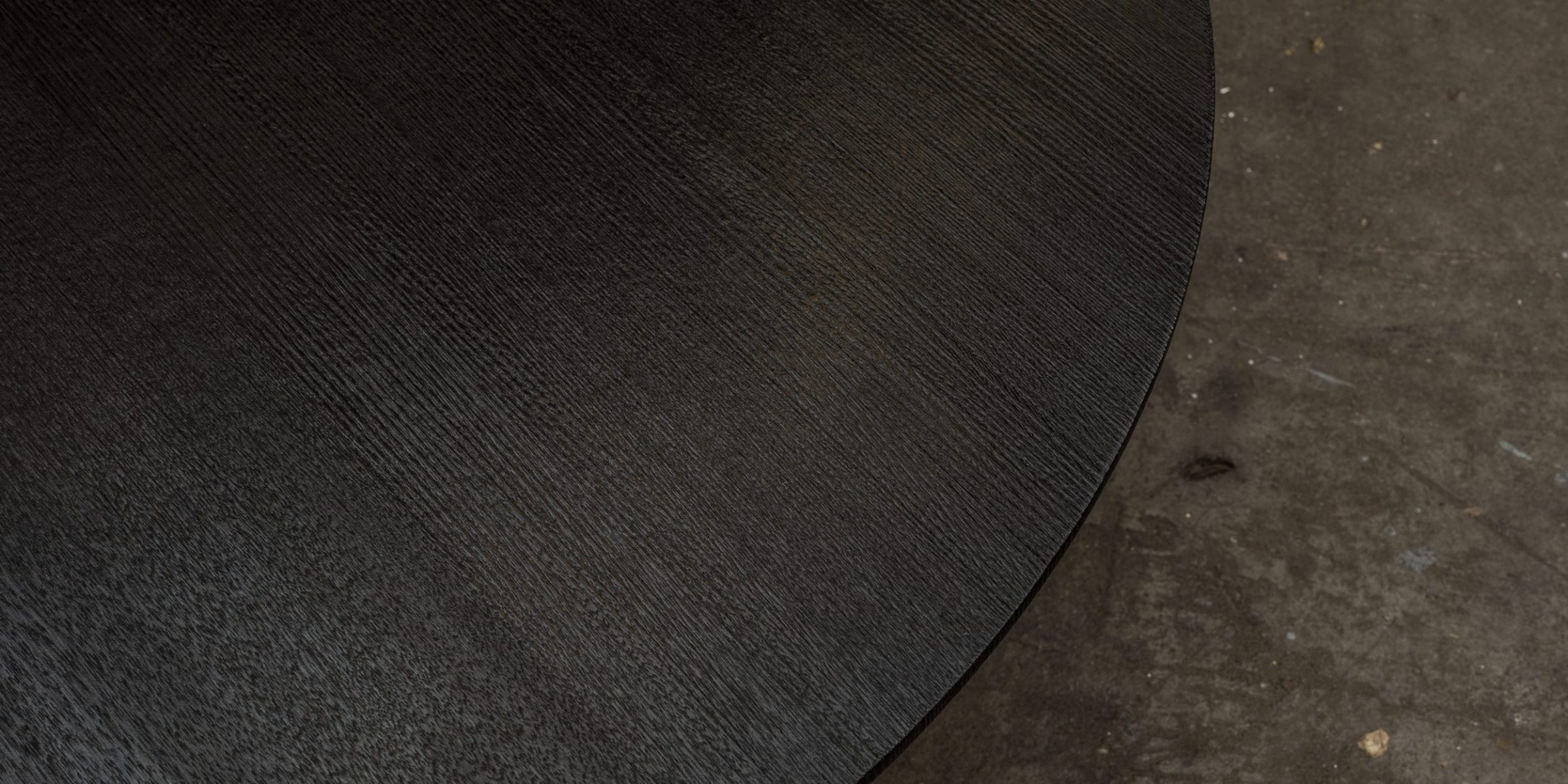 Charred Tasmanian Oak table by Simon Ancher Studio