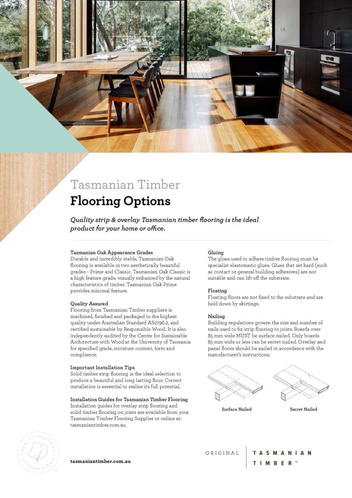 Tasmanian Timber Flooring Options