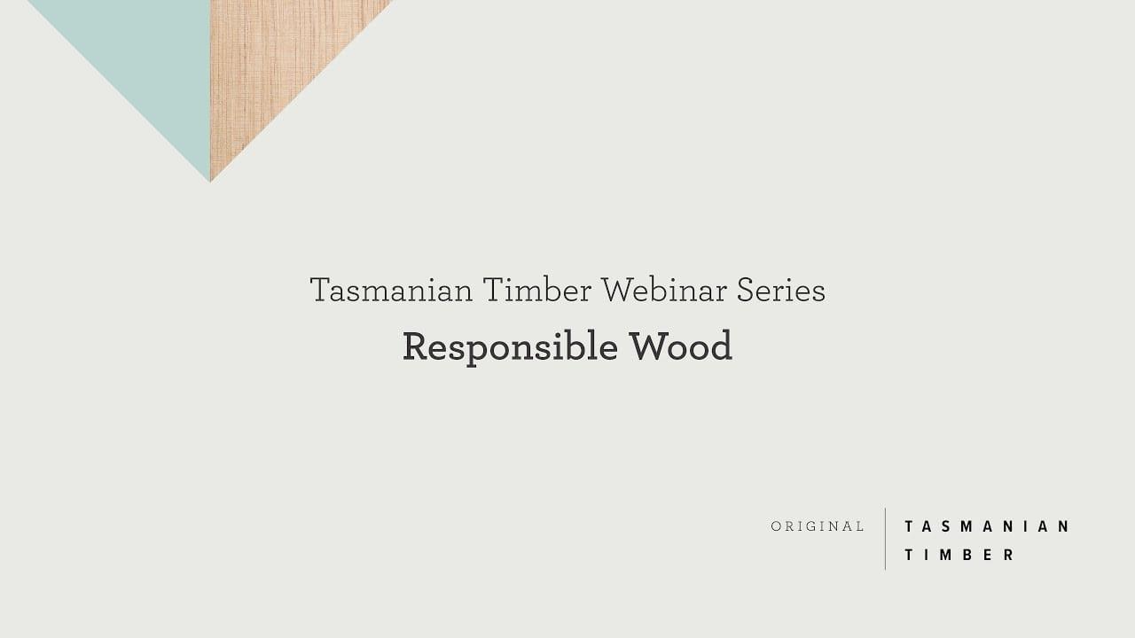 Webinar: Responsible Wood