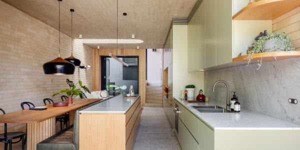 Concrete and Blonde Bombshell- Tasmanian Oak helps transform this Sydney heritage home