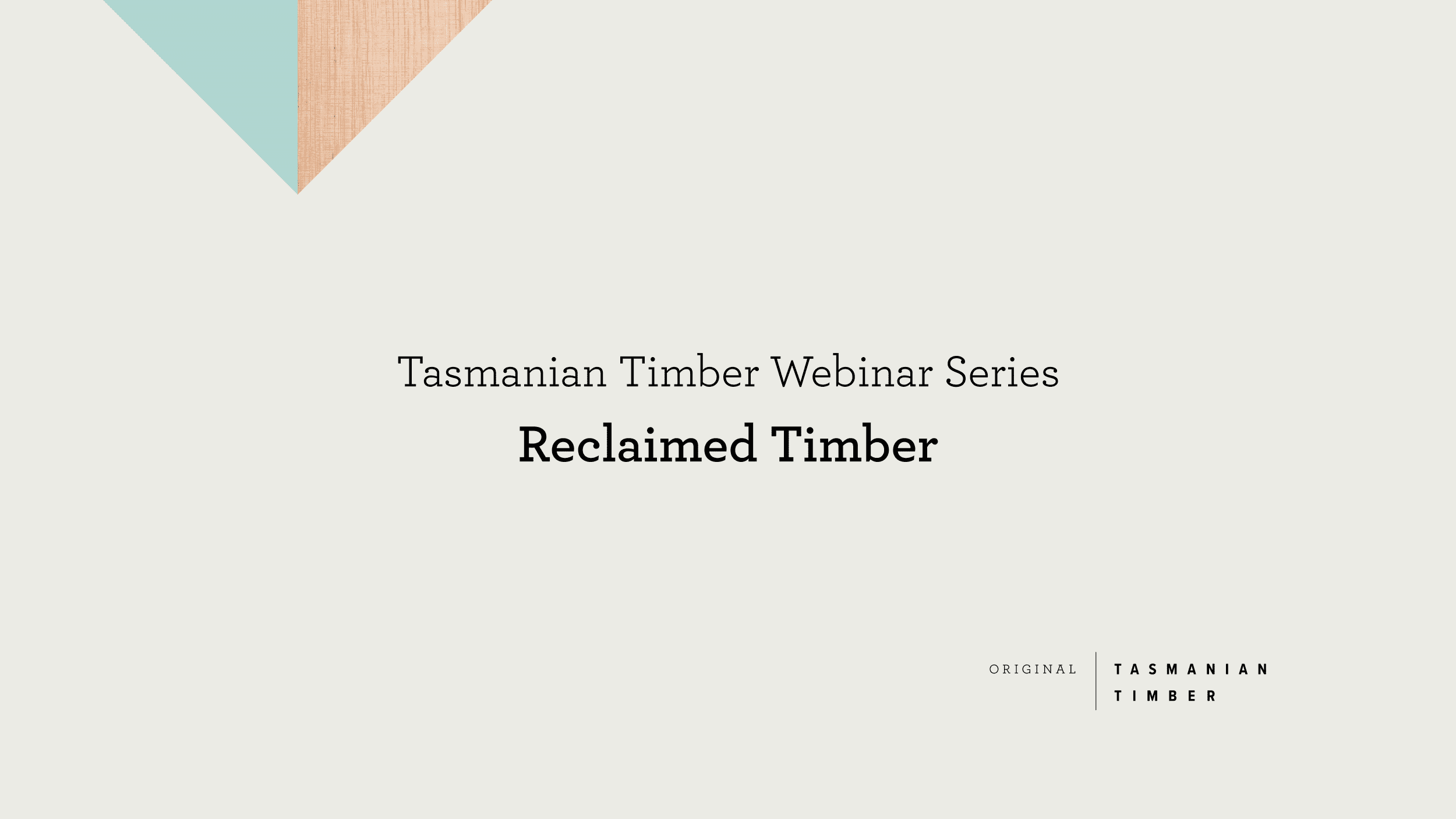 Webinar: Reclaimed Timber