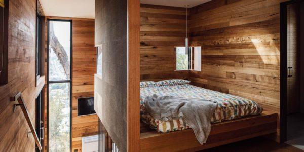 Proudly perched in West Launceston, Birdhouse Studios by Gillian van der Schans offers a glimpse of Tasmania's high-end-but-humble design